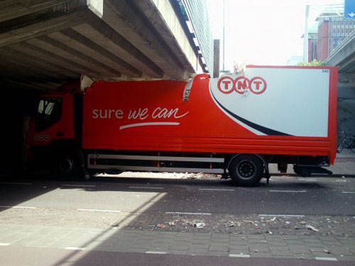 Truck Too Tall For Underpass