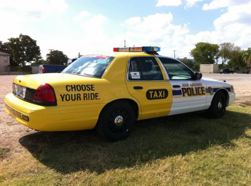 Taxi or Police Car Drinking and Driving Campaign