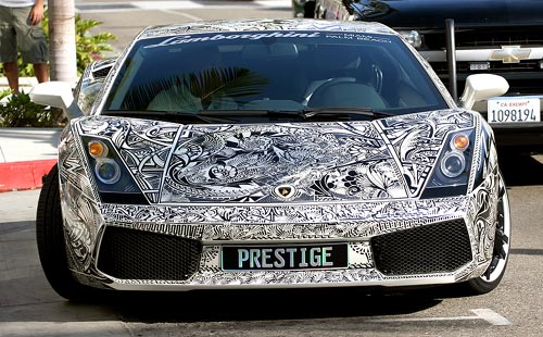 Sharpie Graffiti Lamborghini