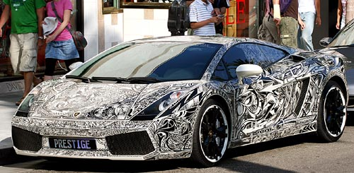 Graffiti Lamborghini Gallardo