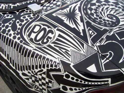 Sharpie Doodle Covered Miata