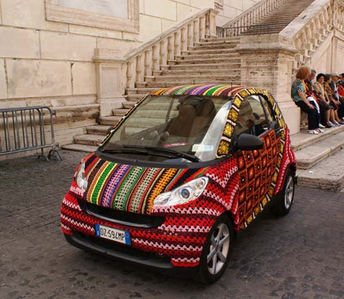 Crocheted Smart Car Cover