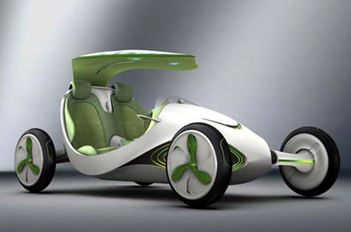 Solar Powered Leaf Concept Car