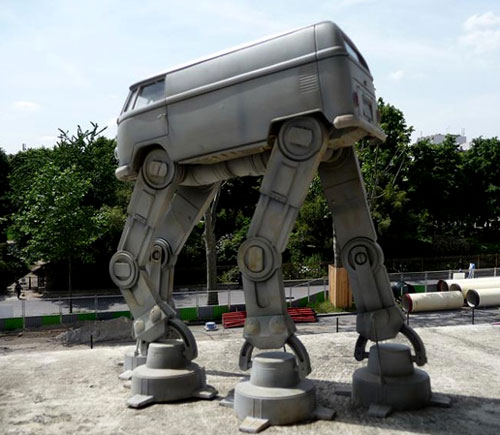 Star Wars AT-AT Volkswagen Van Sculpture