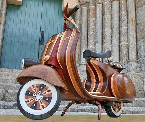Wooden Vespa Front