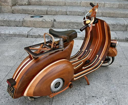 Wooden Vespa Back