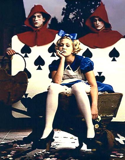 Drew Barrymore as Alice in Wonderland