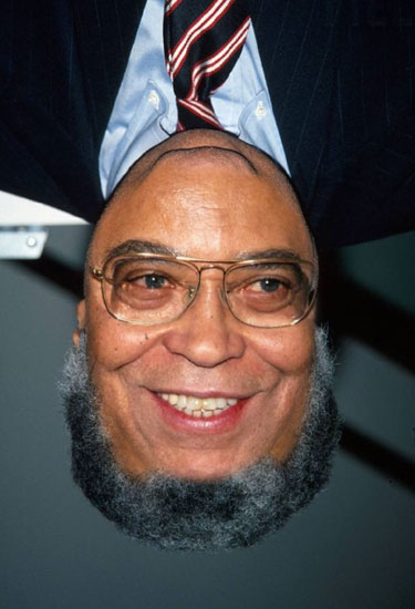James Earl Jones Upside Down Portrait