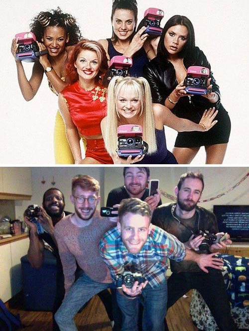 Spice Girls Celebrity Photo Reenactment