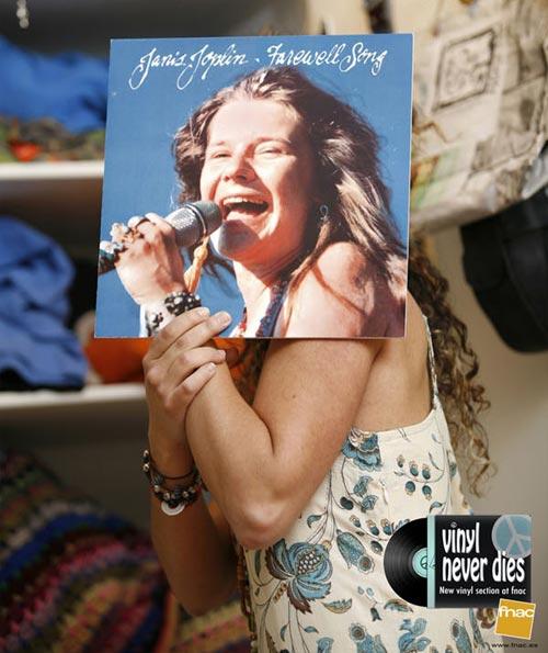 Janis Joplin Vinyl Record Portrait