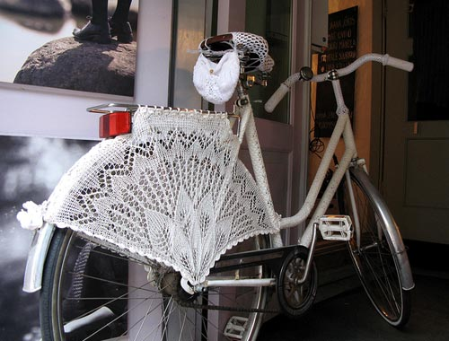 Crochet Lace Bicycle Skirt Guard