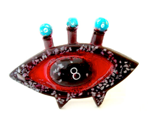 Modern Atomic Glass Brooch