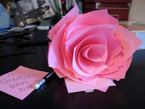 Post It Notes Rose