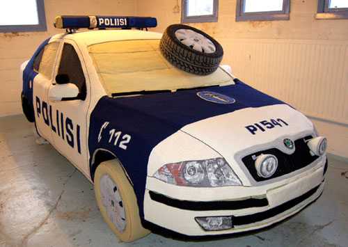 Finish Police Car Cozy