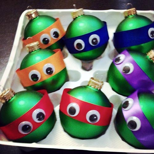 Ninja Turtle Christmas Tree Ornaments