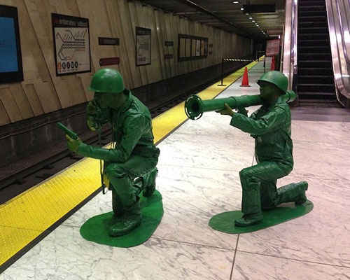Life Size Plastic Army Men