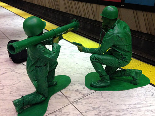 Bazooka Girl And Telephone Guy Army Men Costumes
