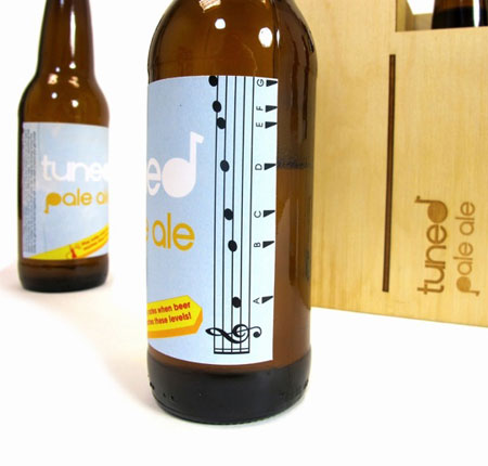 Musical Notes Beer Label