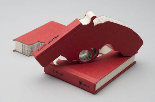 Poetic Justice Book Gun Cut Out