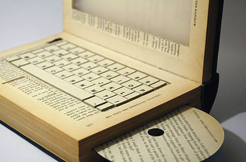 Computer Book Sculpture