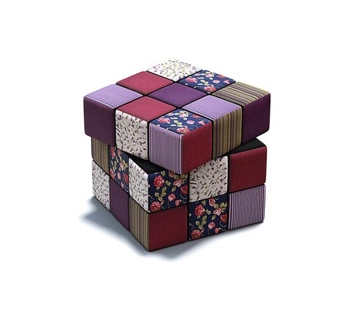 Rubiks Fabric Cushion Cube