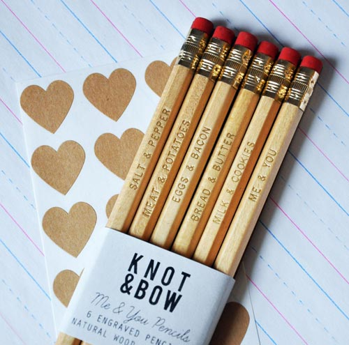 Me & You Engraved Pencils