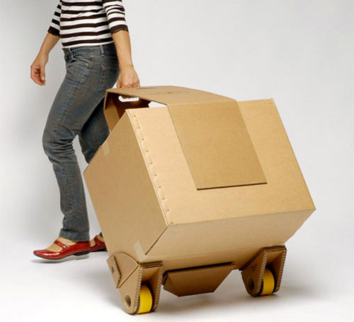 Moving Box With Wheels