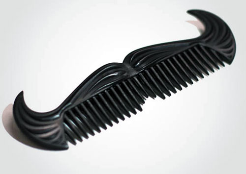 Cowboy Mustache Comb