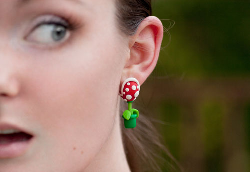 Super Mario Brothers Piranha Plant Earrings