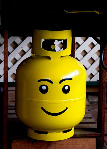 Propane Tank Lego Head