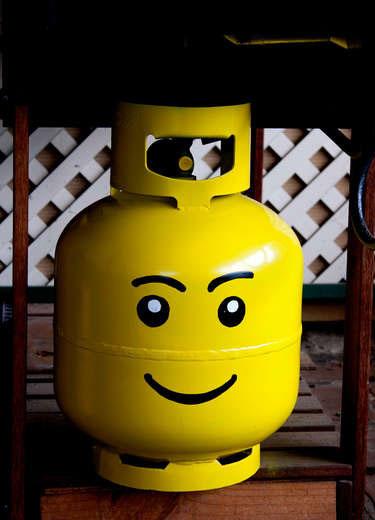 Propane Tank Lego Head