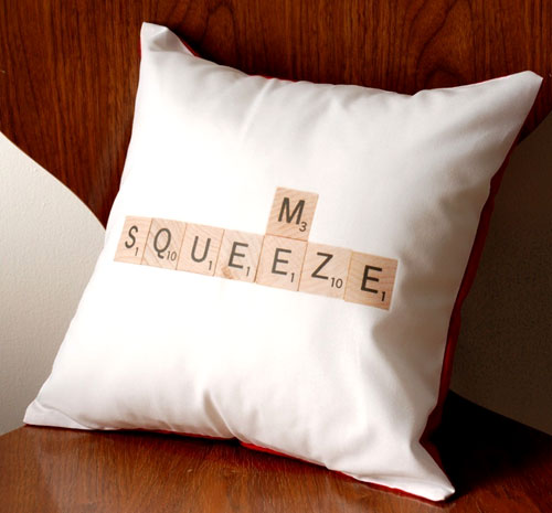 Scrabble Squeeze Me Pillow