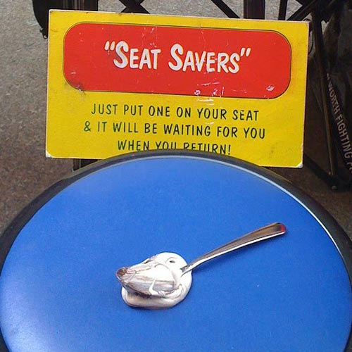 Melted Ice Cream Seat Saver