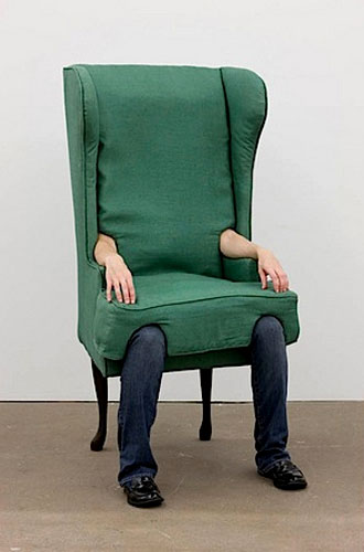 Arm Chair with Human Legs