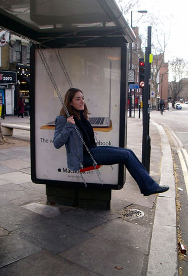 Playful Spaces Bus Stop Swing