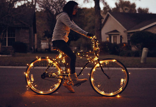 Christmas Lights Bike
