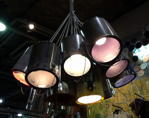 Upcycled Used House Paint Cans Made Into A Hanging Chandelier