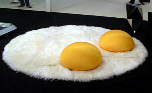 Sunny Side Up Egg Rug