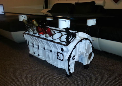 V12 5.3 Litre Engine Block Coffee Table