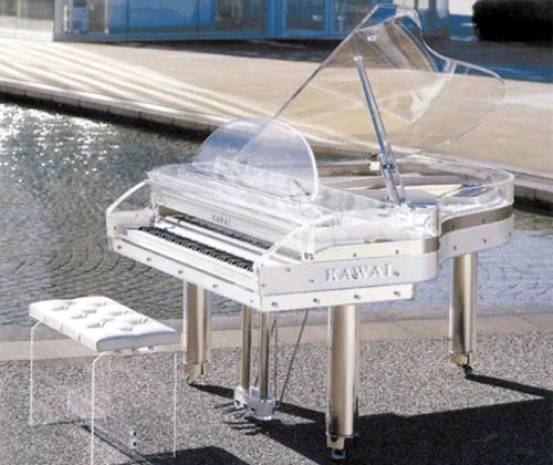 See Through Glass Piano
