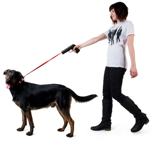 Retractable Gun Shaped Dog Leash