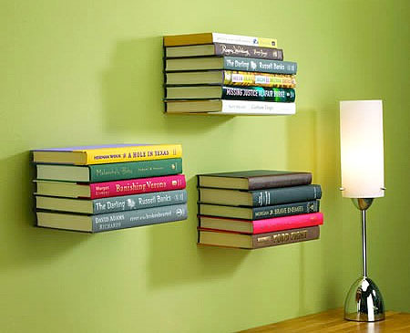Hidden Floating Bookshelves