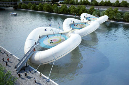 Inflatable Bouncy Bridge Concept Design