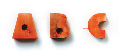 Typography Birdhouses
