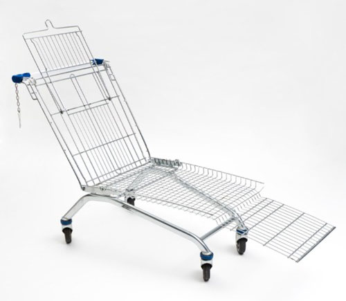 Chaise Lounge Made From Shopping Cart