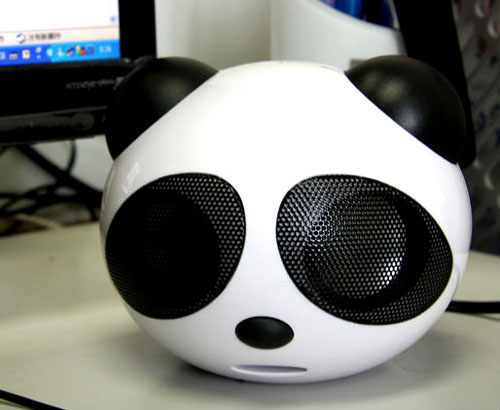 Panda Head Shaped Speakers