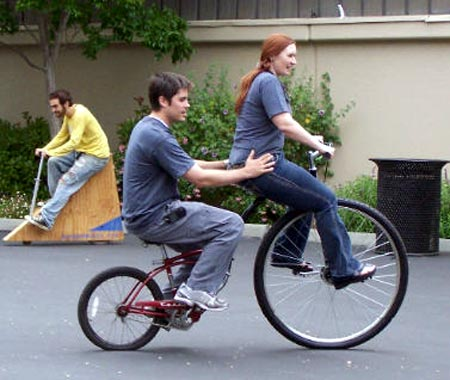 Two Person High Wheeler Bicycle