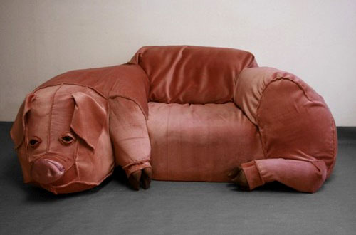 Pig Couch Sculpture