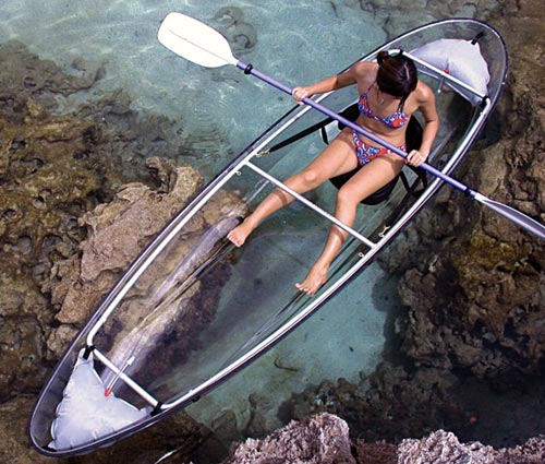 Clear Bottom Kayak Canoe