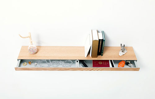 Bookshelf With A Drawer Design